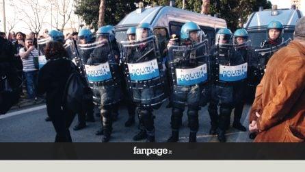 Roma, movimenti in piazza contro il vertice europeo, tensione con la polizia