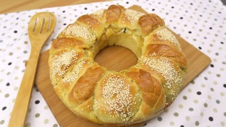 Braided crown: the result is spectacular and tasty!