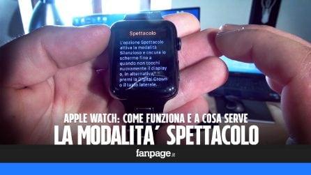 """Cos'è la modalità """"Spettacolo"""" introdotta con l'ultimo aggiornamento di Apple Watch"""