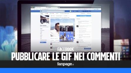Pubblicare le GIF nei commenti Facebook