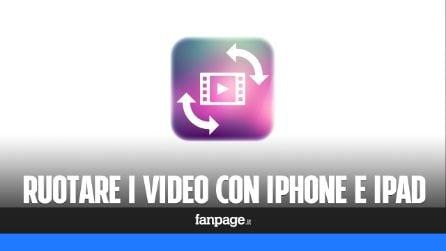 Ruotare i video (ed applicare l'effetto specchio) con l'iPhone e iPad