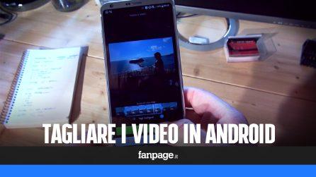 Come tagliare e modificare un video con Android