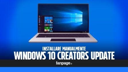 Installare manualmente Windows 10 Creators Update