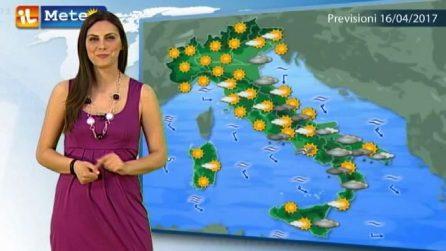 Previsioni meteo per domenica, 16 aprile