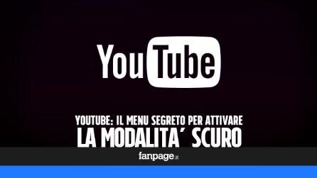 """Il menu segreto di YouTube per attivare la modalità """"scuro"""""""