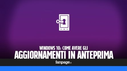 Come avere gli aggiornamenti di Windows 10 in anteprima