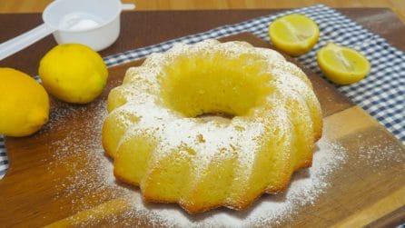 Torta al limone 12 cucchiai: il dolce che si prepara senza bilancia!