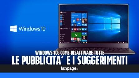 Come disattivare tutta la pubblicità e i suggerimenti in Windows 10 Creators Update