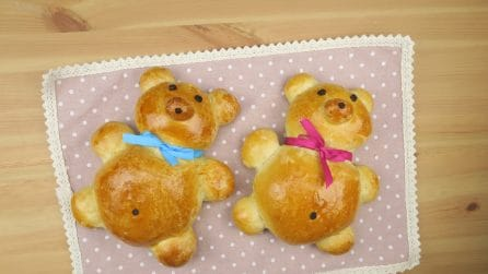 Soft brioche teddy bears: the kids will love them!