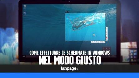 Fotografare e le schermate di Windows nel modo giusto