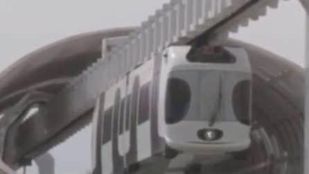 """Si tratta del """"panda"""" più veloce al mondo: la bizzarra ferrovia sospesa"""