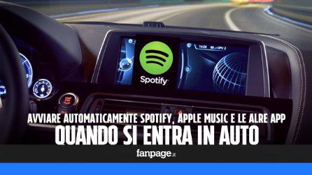 Avviare automaticamente Spotify, Apple Music o qualsiasi altra app quando si entra in auto
