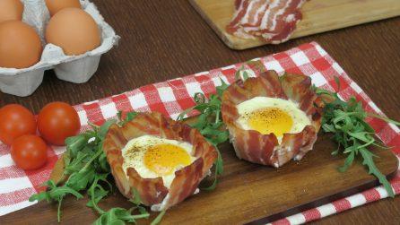 Cestini di pancetta con sorpresa: la ricetta facile e sfiziosa!