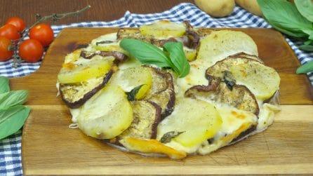 Torta di melanzane e patate: la ricetta light per una cenetta deliziosa!