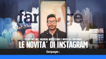 Filtri facciali, hashtag nelle storie e video al contrario: le novità di Instagram