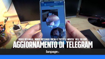 Videomessaggi, messaggi vocali senza premere il tasto di registrazione e le altre novità di Telegram