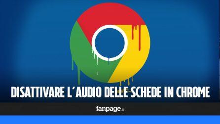 Disattivare l'audio delle schede in Google Chrome