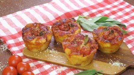 Muffin pizza, l'idea particolare per una cenetta sfiziosa e saporita