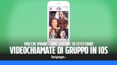 Effettuare videochiamate di gruppo (e giocare con più persone contemporaneamente) su iPhone