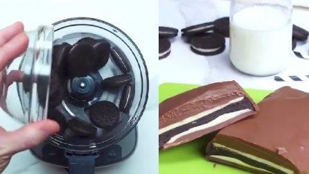 Sbriciola i biscotti nel frullatore:a la gustosa ricetta del cremino agli Oreo