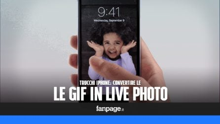 Trasformare le GIF in Live Photo e impostarle come sfondo animato nell'iPhone