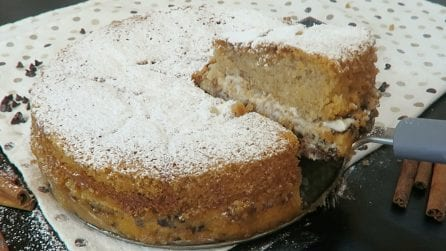 Torta robiola, il dolce morbido, profumato e con un interno cremosissimo