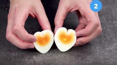 Come fare le uova sode a forma di cuore