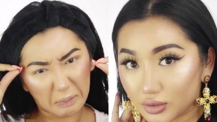 L'incredibile trasformazione di questa ragazza con accorgimenti di make up