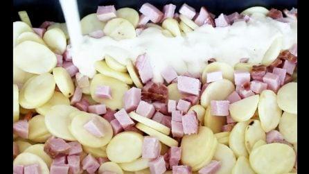 Patate al forno con prosciutto affumicato: la stuzzicante ricetta