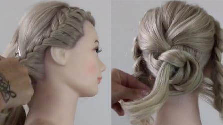 Intreccia i capelli e realizza un'acconciatura elegantissima: l'idea per un evento chic