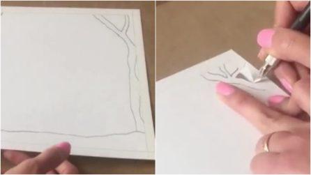 Disegna una cornice sul foglio, poi la ritaglia: il romantico risultato vi lascerà a bocca aperta