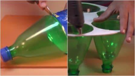 Prende delle bottiglie di plastica e le trasforma: un'idea creativa perfetta per l'estate