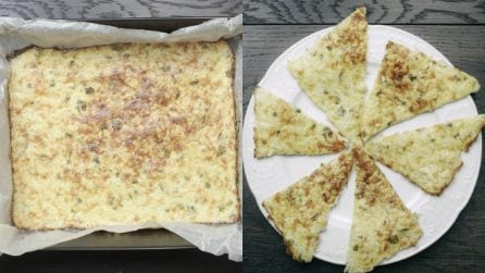 Cauliflower, cheese and garlic flat bread