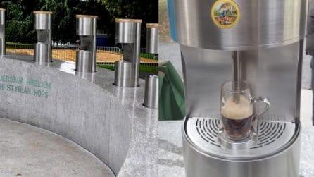 Slovenia, a Zalec in strada ci sono fontane di birra: come riempire un boccale