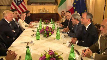 A Villa Taverna l'incontro tra Trump e Gentiloni, il video