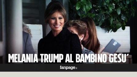 Roma, Melania Trump visita l'ospedale Bambino Gesù