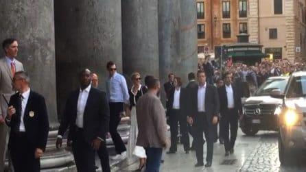 Ivanka Trump si gode Roma: in visita al Pantheon con il marito Jared