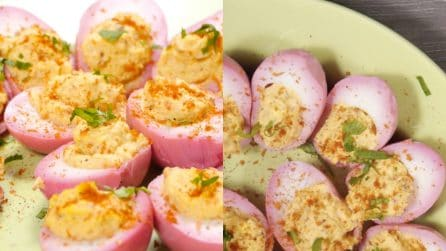 Beet Pickled Devilish Eggs Recipe