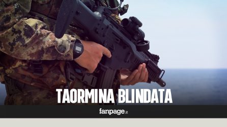 Taormina blindatissima: militari anche in spiaggia