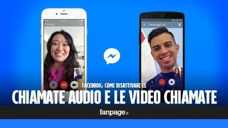 Disattivare le chiamate audio e le videochiamate Facebook