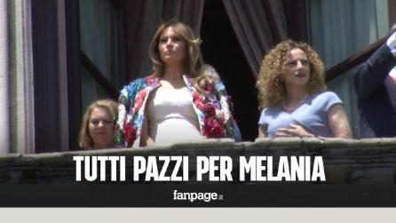 G7, le first lady a Catania: Melania Trump ruba la scena