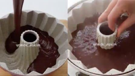 Ciambellone al cacao cotto in acqua bollente: la ricetta è semplicissima