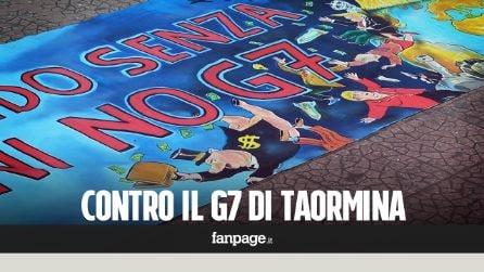 """G7, i manifestanti: """"Non abbiate paura di noi, siamo dalla vostra parte"""""""