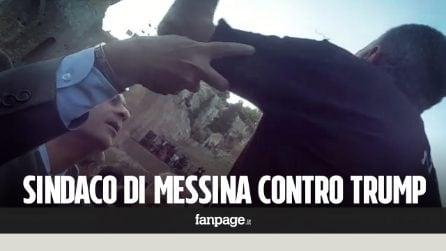 "G7, sindaco di Messina urla a Trump: ""Pace, no guerra"""