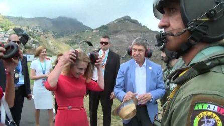 G7 a Taormina: per le first lady giro in elicottero sulla Sicilia
