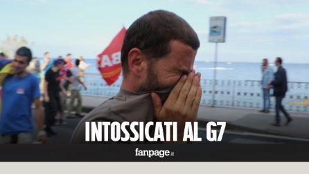 G7, manifestanti con disturbi agli occhi e alla gola per i lacrimogeni