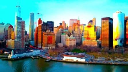 Il tramonto mozzafiato sullo skyline di New York