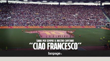 """L'addio dei tifosi a Totti: """"Rimarrà per sempre il nostro capitano"""""""
