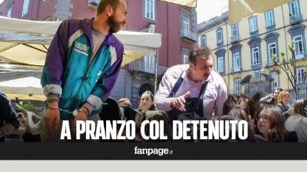 Un detenuto a pranzo, le reazioni della gente [Esperimento sociale]