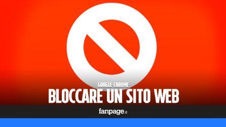Bloccare un sito web in Chrome